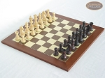 Professional Staunton Maple Chessmen with Spanish Traditional Chess Board [Small] - Item: 670