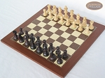 picture of Professional Staunton Maple Chessmen with Spanish Traditional Chess Board [Small] (2 of 5)