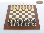picture of Professional Staunton Maple Chessmen with Spanish Traditional Chess Board [Small] (3 of 5)