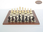 picture of Professional Staunton Maple Chessmen with Spanish Traditional Chess Board [Small] (4 of 5)