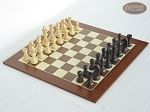 Professional Staunton Maple Chessmen with Spanish Wood Chess Board - Item: 665