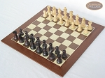 picture of Professional Staunton Maple Chessmen with Spanish Wood Chess Board (2 of 5)