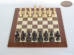 picture of Professional Staunton Maple Chessmen with Spanish Wood Chess Board (3 of 5)