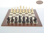 picture of Professional Staunton Maple Chessmen with Spanish Wood Chess Board (4 of 5)