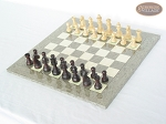 picture of Professional Staunton Maple Chessmen with Spanish Lacquered Chess Board [Grey] (2 of 5)