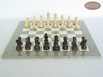picture of Professional Staunton Maple Chessmen with Spanish Lacquered Chess Board [Grey] (4 of 5)