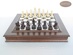 picture of Professional Staunton Maple Chessmen with Italian Alabaster Chess Board with Storage (4 of 6)