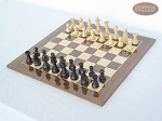 picture of Professional Staunton Maple Chessmen with Spanish Lacquered Chess Board [Wood] (2 of 5)