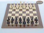 picture of Professional Staunton Maple Chessmen with Spanish Lacquered Chess Board [Wood] (3 of 5)