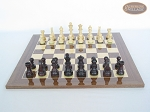 picture of Professional Staunton Maple Chessmen with Spanish Lacquered Chess Board [Wood] (4 of 5)