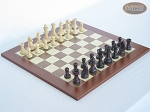 Professional Staunton Maple Chessmen with Spanish Traditional Chess Board [Large] - Item: 671