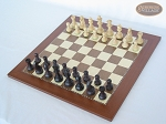 picture of Professional Staunton Maple Chessmen with Spanish Traditional Chess Board [Large] (2 of 5)