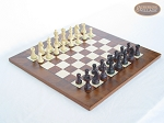 Professional Staunton Maple Chessmen with Italian Lacquered Chess Board [Wood] - Item: 674