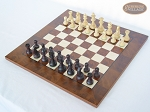 picture of Professional Staunton Maple Chessmen with Italian Lacquered Chess Board [Wood] (2 of 5)