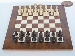 picture of Professional Staunton Maple Chessmen with Italian Lacquered Chess Board [Wood] (3 of 5)