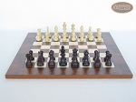 picture of Professional Staunton Maple Chessmen with Italian Lacquered Chess Board [Wood] (4 of 5)
