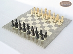 picture of Executive Staunton Chessmen with Spanish Lacquered Chess Board [Grey] (2 of 6)