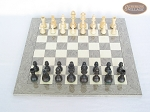 picture of Executive Staunton Chessmen with Spanish Lacquered Chess Board [Grey] (3 of 6)
