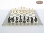 picture of Executive Staunton Chessmen with Spanish Lacquered Chess Board [Grey] (4 of 6)