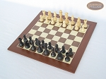 picture of Executive Staunton Chessmen with Spanish Wood Chess Board (2 of 6)