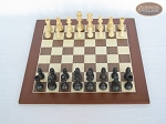 picture of Executive Staunton Chessmen with Spanish Wood Chess Board (3 of 6)