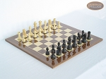 Executive Staunton Chessmen with Spanish Lacquered Chess Board [Wood] - Item: 710