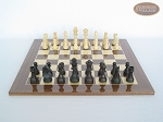 picture of Executive Staunton Chessmen with Spanish Lacquered Chess Board [Wood] (4 of 6)