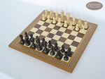 picture of Executive Staunton Chessmen with Spanish Mosaic Chess Board (2 of 6)