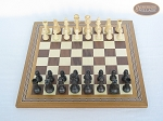 picture of Executive Staunton Chessmen with Spanish Mosaic Chess Board (3 of 6)