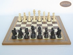 picture of Executive Staunton Chessmen with Spanish Mosaic Chess Board (4 of 6)