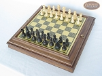 picture of Executive Staunton Chessmen with Italian Brass Chess Board with Storage (2 of 7)