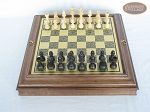 picture of Executive Staunton Chessmen with Italian Brass Chess Board with Storage (3 of 7)