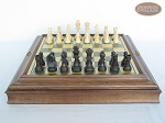 picture of Executive Staunton Chessmen with Italian Brass Chess Board with Storage (4 of 7)