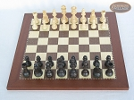picture of Executive Staunton Chessmen with Spanish Traditional Chess Board [Small] (3 of 6)