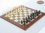 Executive Staunton Chessmen with Spanish Traditional Chess Board [Large] - Item: 715