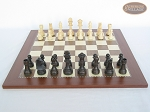 Executive Staunton Chessmen with Spanish Traditional Chess Board [Large]