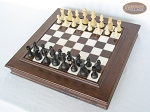 picture of Executive Staunton Chessmen with Italian Alabaster Chess Board with Storage (2 of 7)