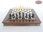 picture of Executive Staunton Chessmen with Italian Alabaster Chess Board with Storage (4 of 7)