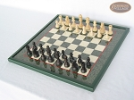 picture of Executive Staunton Chessmen with Italian Lacquered Chess Board [Green] (2 of 6)