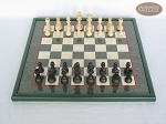 picture of Executive Staunton Chessmen with Italian Lacquered Chess Board [Green] (3 of 6)