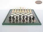 picture of Executive Staunton Chessmen with Italian Lacquered Chess Board [Green] (4 of 6)