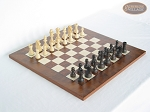 Executive Staunton Chessmen with Italian Lacquered Chess Board [Wood] - Item: 718
