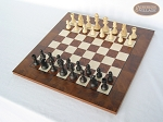 Executive Staunton Chessmen with Italian Lacquered Chess Board [Wood]