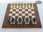 picture of Executive Staunton Chessmen with Italian Lacquered Chess Board [Wood] (3 of 6)