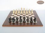 picture of Executive Staunton Chessmen with Italian Lacquered Chess Board [Wood] (4 of 6)