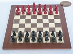picture of Red and Black Maple Staunton Chessmen with Spanish Traditional Chess Board [Small] (3 of 6)