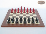 picture of Red and Black Maple Staunton Chessmen with Spanish Traditional Chess Board [Small] (4 of 6)