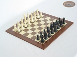 picture of Contemporary Staunton Chessmen with Spanish Wood Chess Board (1 of 6)