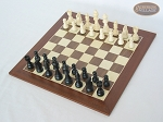 picture of Contemporary Staunton Chessmen with Spanish Wood Chess Board (2 of 6)