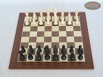 picture of Contemporary Staunton Chessmen with Spanish Wood Chess Board (3 of 6)